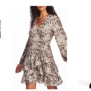 1.State Snakeskin Print Wrap Dress NWT